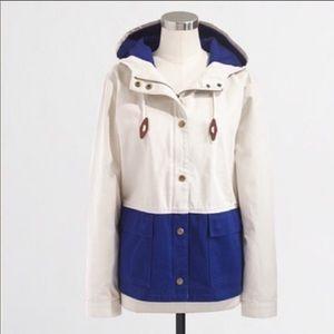 J. Crew Colorblock Anorak 100% Cotton Jacket S